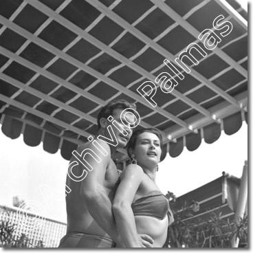 Di Leo, attrice e modella - Venezia, agosto 1955, Festival del Cinema